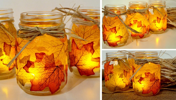 Vyrobte si svietniky z listov