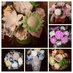 Mydlové kytice, dekorácie, ikebany, mydielka.